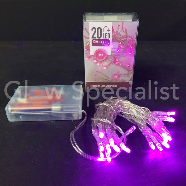 LED LIGHTS - 20 LIGHTS - PINK