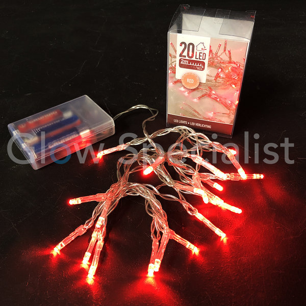 LED LIGHTS - 20 LAMPJES - ROOD
