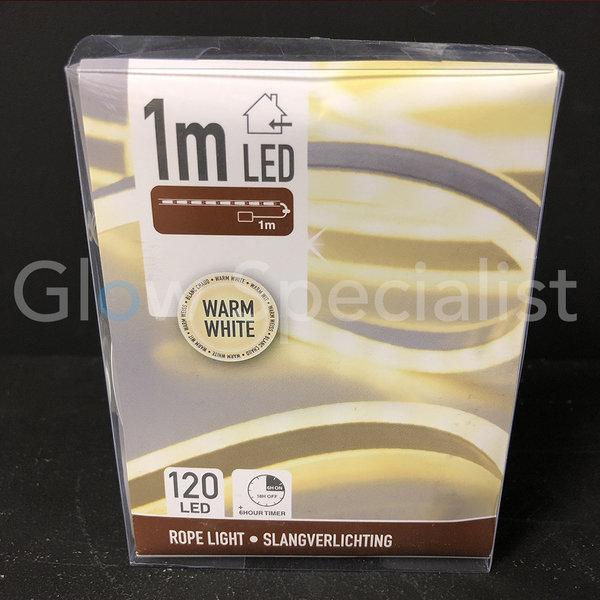 LED SLANGVERLICHTING - 120 LED - 1 METER - WARM WIT - WITH TIMER