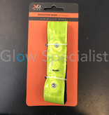 NEON YELLOW REFLECTIVE BAND WITH 4 RED LED LIGHTS