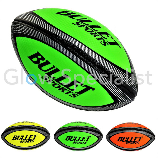 UV / BLACKLIGHT RUGBYBALL - SIZE 3 - 3 COLORS