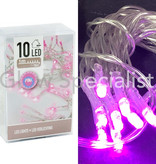 LED LIGHTS - 10 LIGHTS - PINK