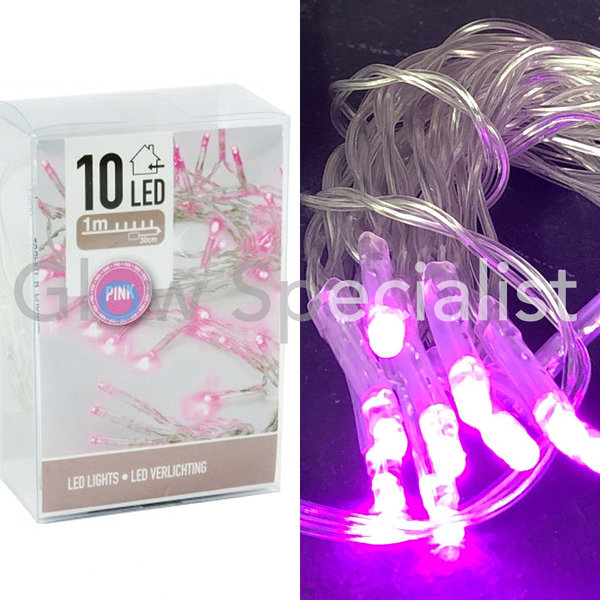 LED LIGHTS - 10 LAMPJES - ROZE