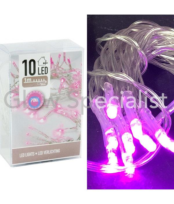 LED LIGHTS - 10 LAMPJES - ROZE