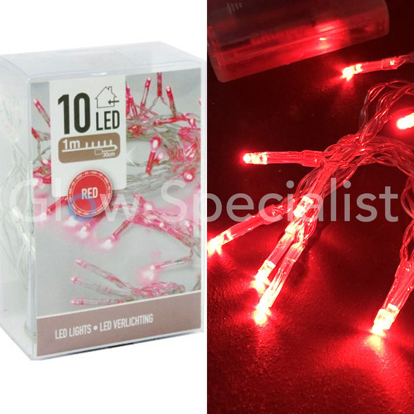 LED LIGHTS - 10 LAMPJES - ROOD