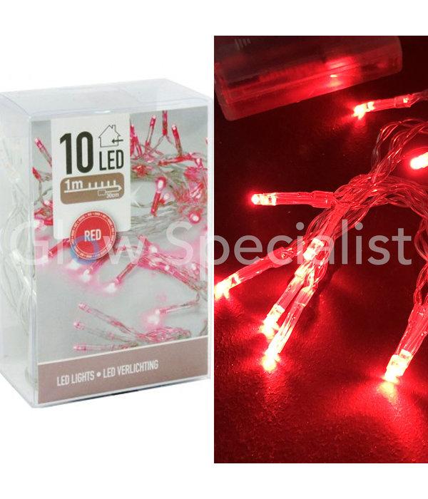 LED LIGHTS - 10 LIGHTS - RED
