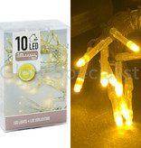 LED LIGHTS - 10 LAMPJES - GEEL