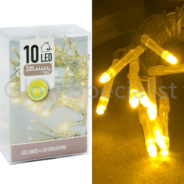 LED LIGHTS - 10 LIGHTS - YELLOW