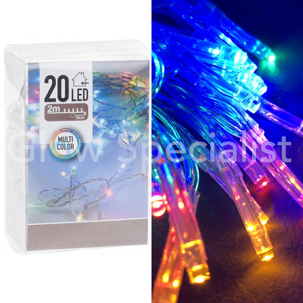 LED LIGHTS - 20 LIGHTS - MULTICOLOR