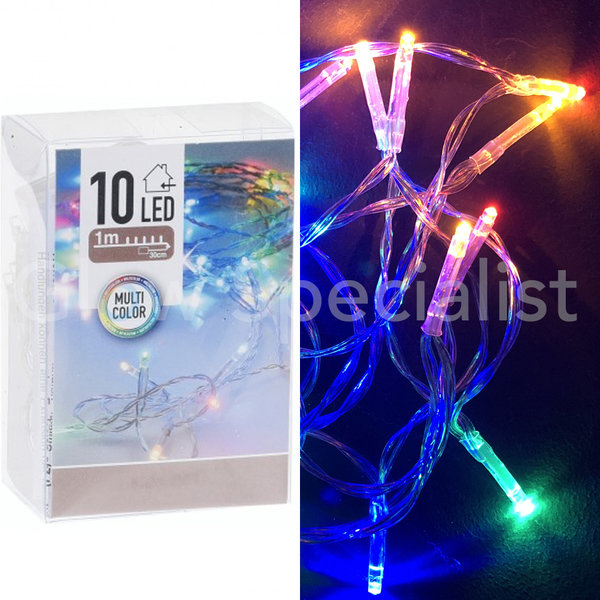 LED LIGHTS - 10 LAMPJES - MULTICOLOR