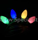 KNIPPERENDE LED DIADEEM MET 4 GEKLEURDE LAMPJES