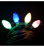 FLASHING LED HEAD BAND WITH 4 COLORED LIGHT BULBS