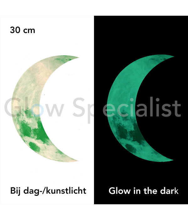 GLOW IN THE DARK HALVE MAAN - 2 MATEN
