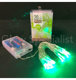LED LIGHTS - 20 LIGHTS - GREEN