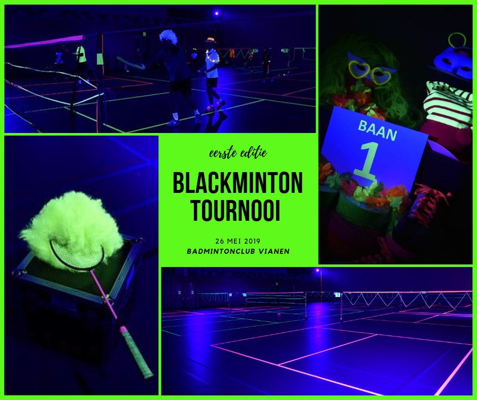 'Blackminton Toernooi' bij BC Vianen