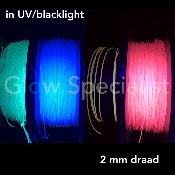 UV / BLACKLIGHT NEON DRAAD PVC - 2 MM