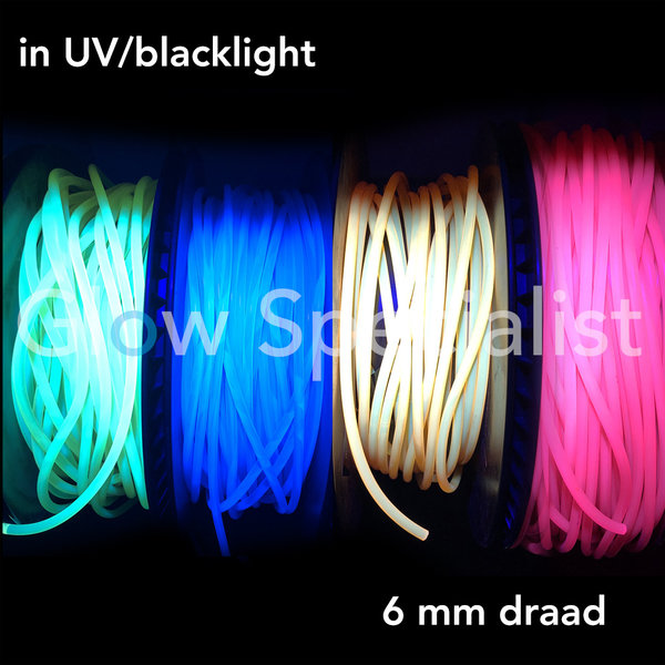 UV / BLACKLIGHT NEON DRAAD PVC - 6 MM