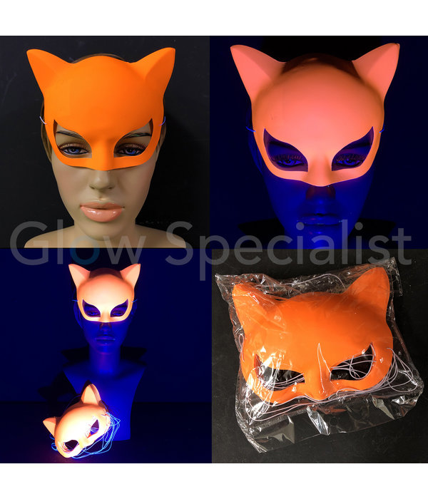 NEON EYE MASK CAT - SET OF 12 PCS -  4 COLORS