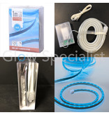 LED ROPE LIGHT - 120 LED - 1 METER - BLUE - WITH TIMER