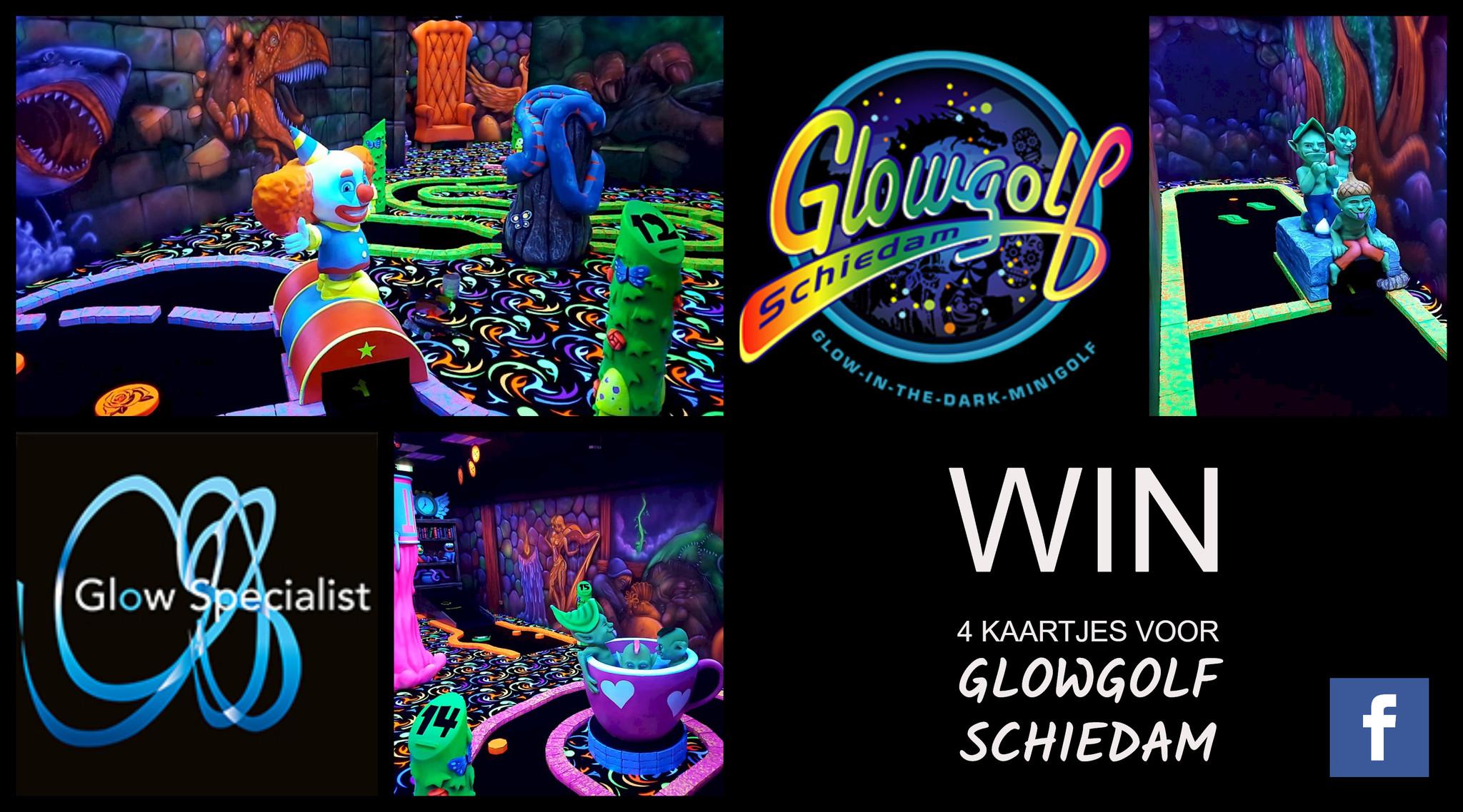 Win gratis kaartjes voor GlowGolf Schiedam