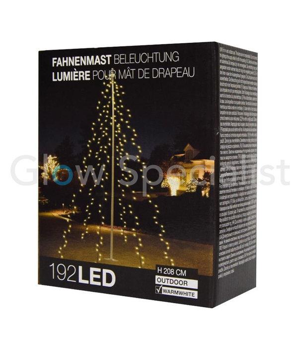 VLAGGENMAST VERLICHTING - 192 LED - H 208 CM - WARM WIT
