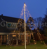 FLAGPOLE LIGHTING - 360 LED - H 800 CM - WARM WHITE