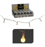 LED LICHTSNOER MET 10 BOLLETJES - WARM WIT