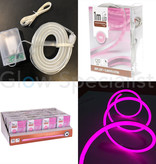 LED ROPE LIGHT - 120 LED - 1 METER - PINK - WITH TIMER