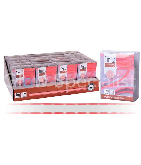 LED SLANGVERLICHTING - 120 LED - 1 METER -  ROOD - MET TIMER