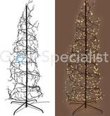 SPIRAL TREE - 567 LED - 8 LIGHT MODES - WARM WHITE - 240CM