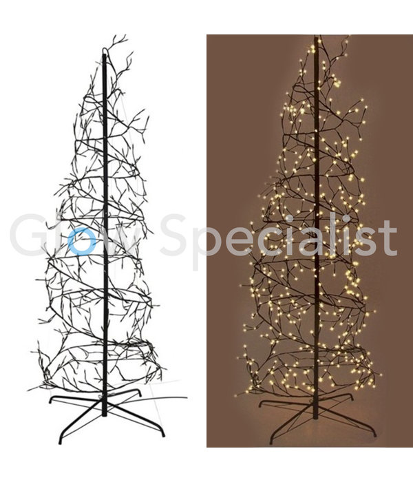 SPIRAL TREE - 576 LED - 8 LIGHT MODES - WARM WHITE - 240CM