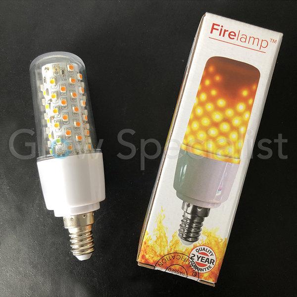 FIRELAMP™ 3W - 300 LUMEN - E14 - 64 SMD - 1800K - HELDER