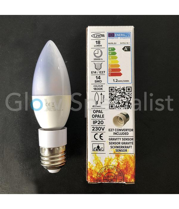 Firelamp FIRELAMP™ FLAME 1.2W - 18 LUMEN - E14/27 - 14 SMD - 1830K - OPAL