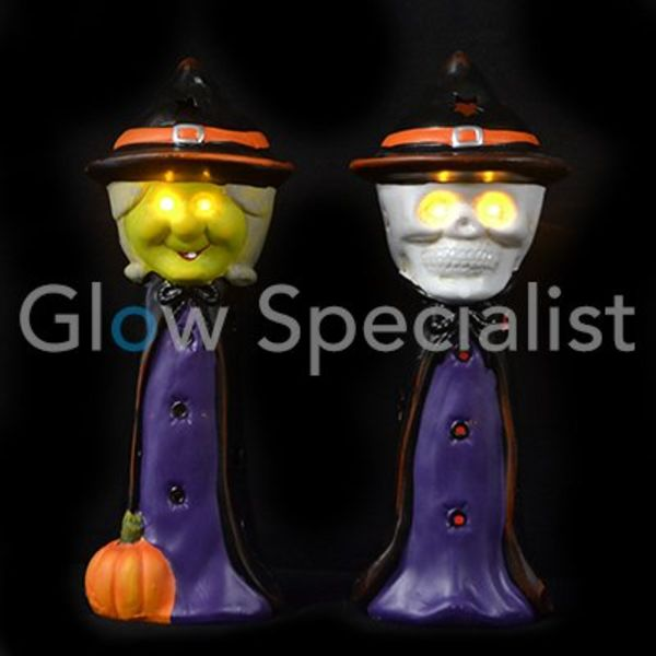 LED HALLOWEEN DECORATIE - HEKS OF DOODSHOOFD