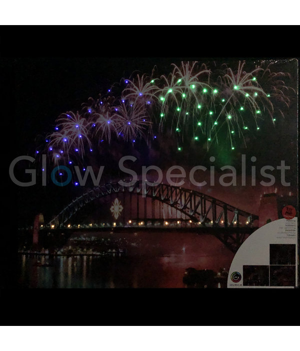 CANVAS SCHILDERIJ - SYDNEY HARBOUR BRIDGE - COLOR CHANGING LED - 50 X 40CM