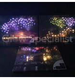 CANVAS PAINTING - BRIDGE BY NIGHT - COLOR CHANGING LED - 50X40CM