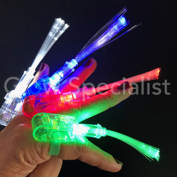 FINGER LIGHTS WITH FIBERSTICKS - TRAY OF 50 PCS