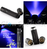 UV FLASHLIGHT CONVOY S2 + NICHIA WITH ZWB2 FILTER - WITHOUT BATTERY AND CHARGER