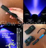 UV FLASHLIGHT CONVOY S2 + NICHIA WITH ZWB2 FILTER INCL. 18650 ACCU + CHARGER + CASE