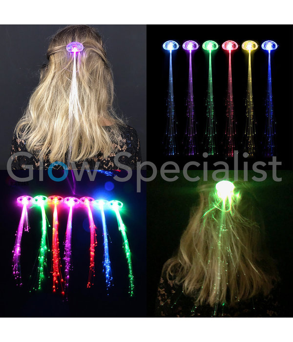 LED HAIR PIN WITH FIBER