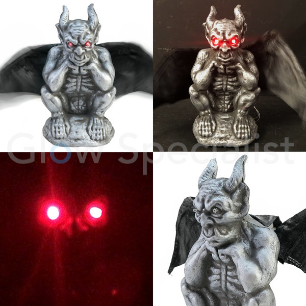 HALLOWEEN MYTHIC CREATURE WITH WINGS  - LIGHT AND SOUND - 31  CM