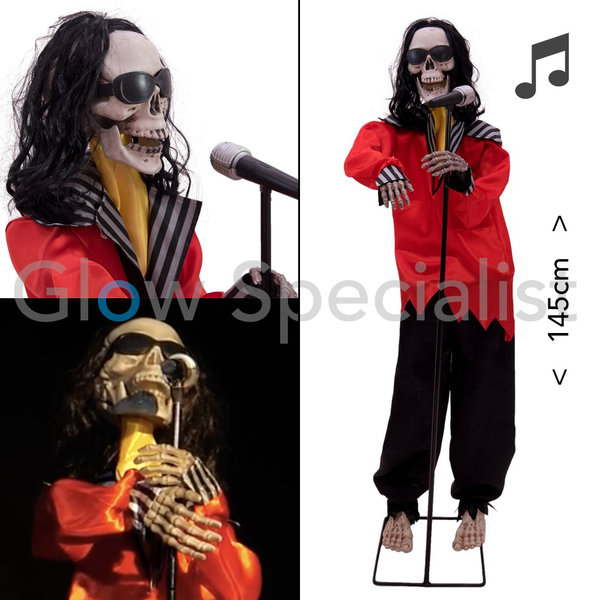 "HALLOWEEN DANSEND & ZINGEND SKELET - ""SUPER FREAK"" - 145 CM"