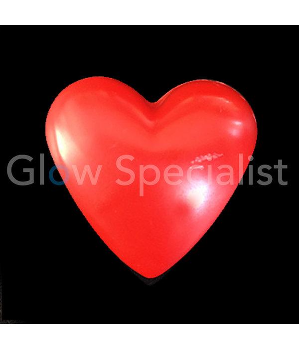 LED FLASHING HEART RED