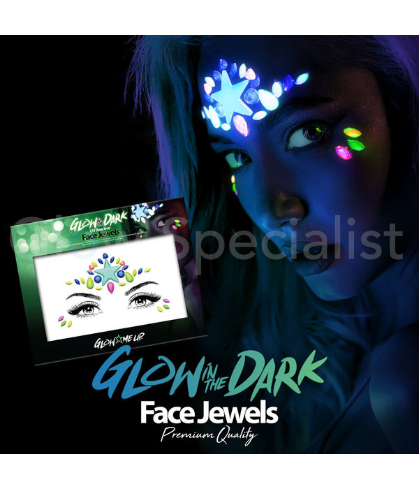 - PaintGlow PAINTGLOW GLOW IN THE DARK UV REACTIVE FACE JEWELS - STAR