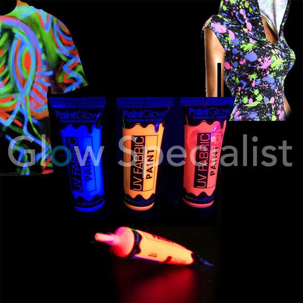 PAINTGLOW UV FABRIC PAINT - SET OF 3