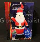 INFLATABLE FIGURE SANTA CLAUS WITH LED - 210 CM