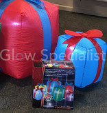6 INFLATABLE CHRISTMAS GIFTBOXES  WITH LED - 240 CM