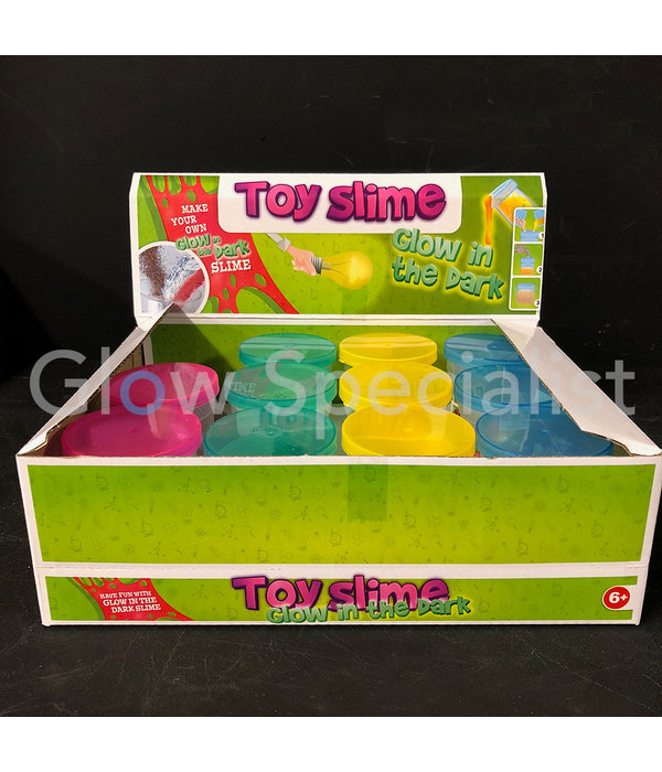 GLOW IN THE DARK DIY GLITTER SLIME - SET WITH 4 COLORS