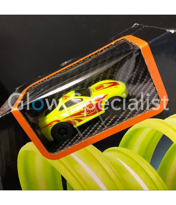 GLOW IN THE DARK RACEBAAN - MET LICHTGEVENDE AUTO - 21-DELIG