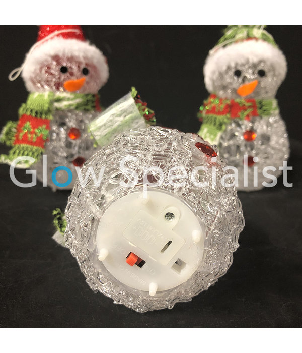 LED COLOR CHANGING SNOWMAN - 8x12CM - SET OF 3